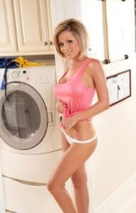 very sexy milf by washing machine