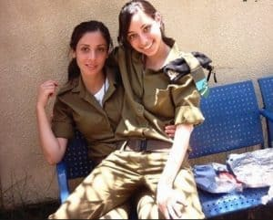 hot military girls sitting closely
